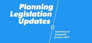 Updates to the State Planning Legislation