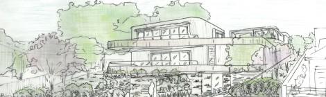 Seniors Living Sketch Design